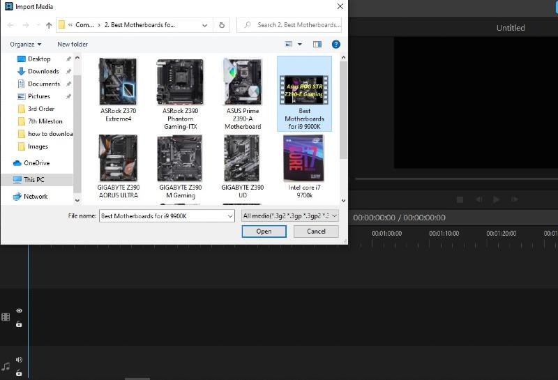 import new video