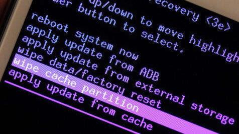 wipe-cache-partition