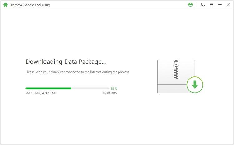 extract data pacakge to unlock google frp lock