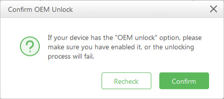 turn on usb and oem unlock