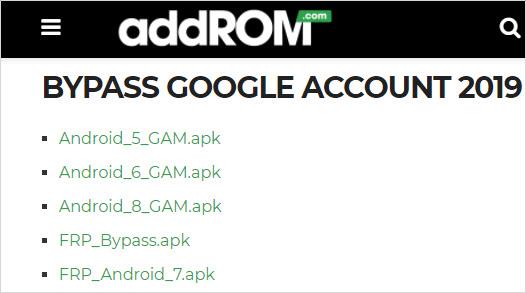 Bypass FRP addROM