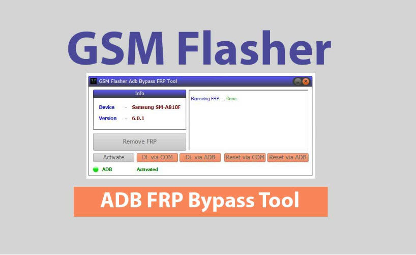 GSM Flasher Tool to bypass google account