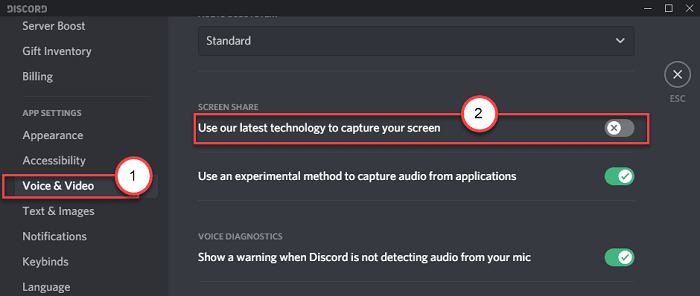 latest technolgy to capture screen discord