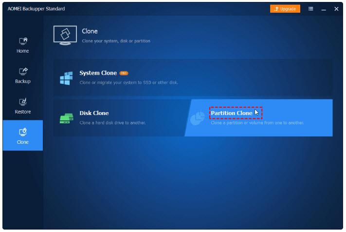 partition clone