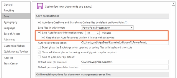 powerpoint-autorecover