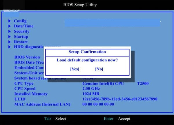 bios setup utility