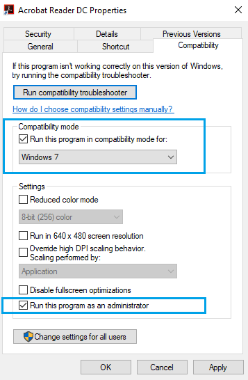 fix Adobe Reader not responding issue