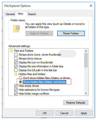 how do i recover hidden files - show/view hidden files