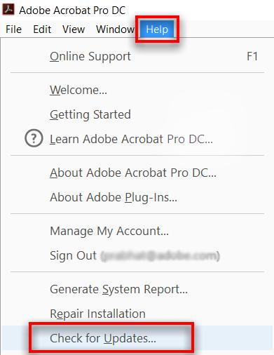 update Adobe Acrobat Reader