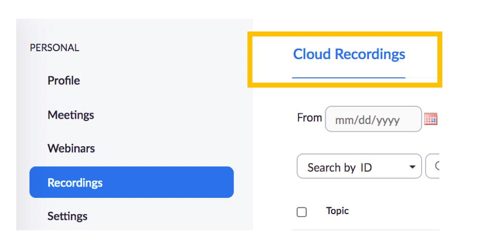 cloud recordings zoom