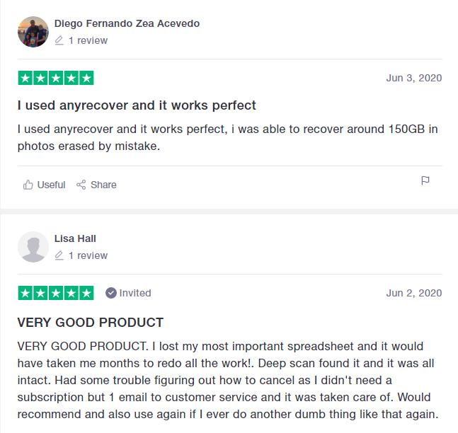 positive feedback of AnyReocver