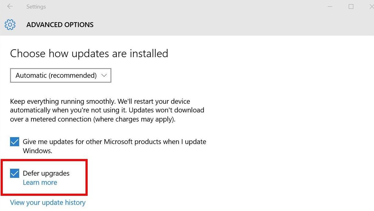 defer windows upgrades