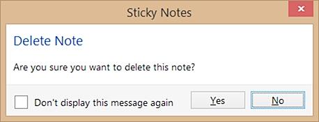 delete notes confirmation