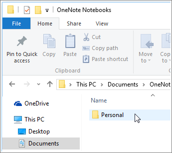 delete onenote notebook from file explorer