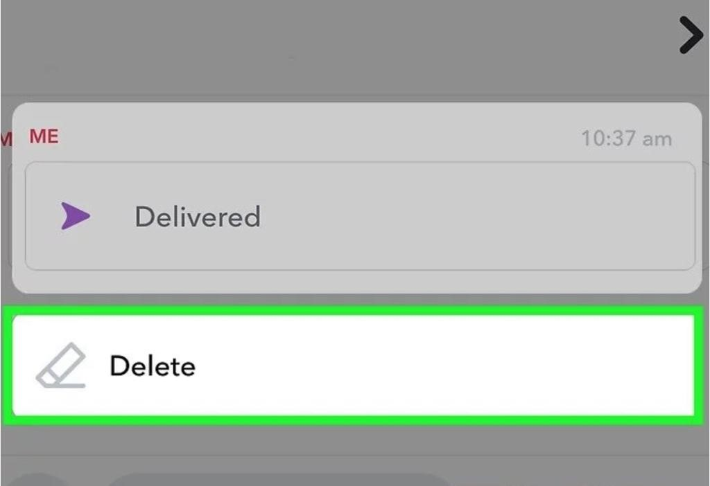 delete picture on snapchat from chat