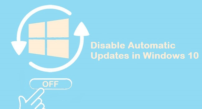 disable automatic updates in windows -10