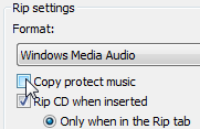 disable copy protect music