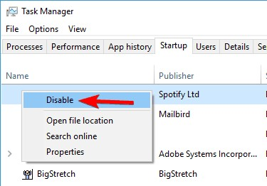 disable icloud in startup