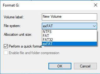 customize format options