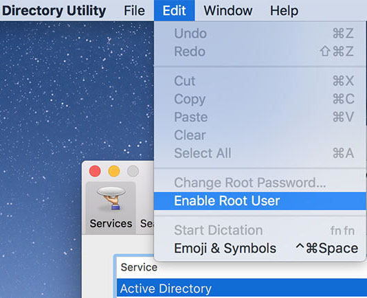 enable root user