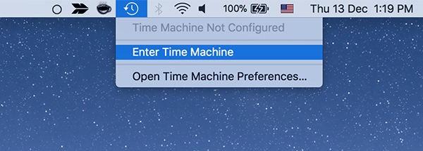 enter time machine