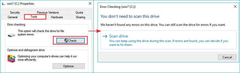 corrupt master file table error