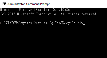 fix corrupted recycle bin error