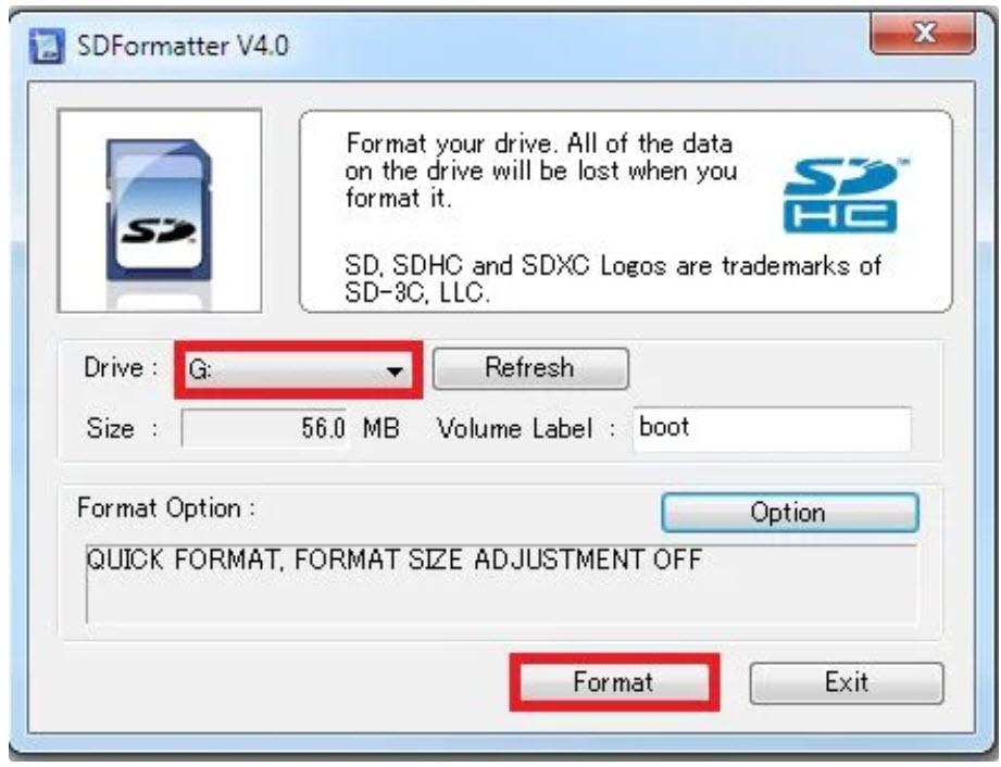 format option