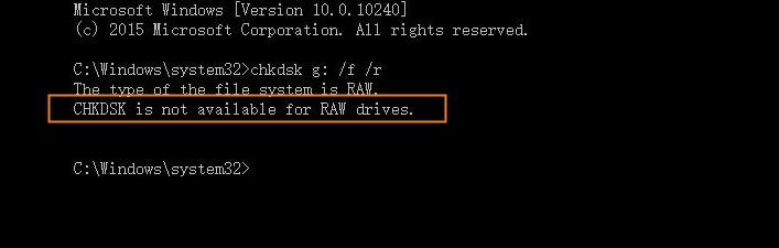 fix raw sd card without formatting using cmd