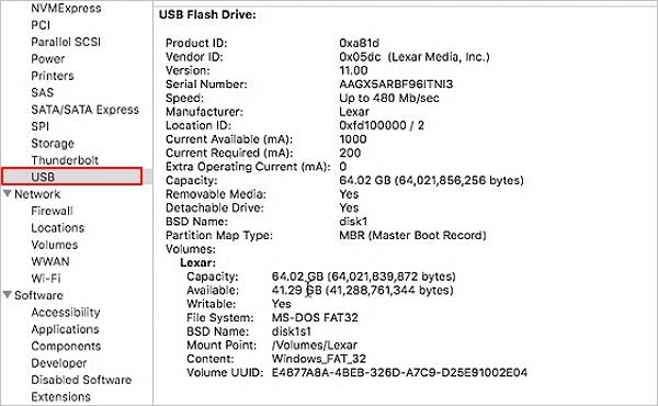 how to fix usb flash drive not detected mac