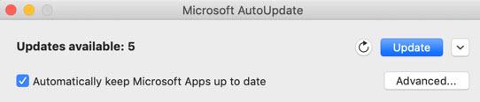 update Word on Mac
