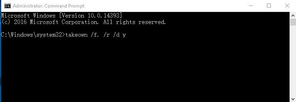 You Don't Currently Have Permission to Access This Folder Server 2012/2016 - Run Command Prompt