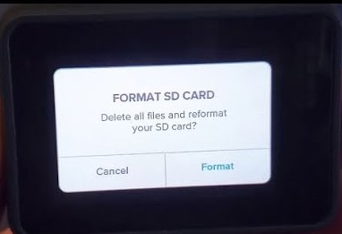 format sd card on gopro