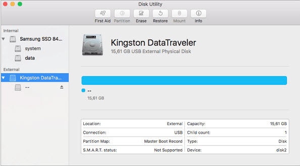 open disk utility