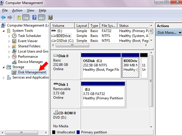 format usb with disk management