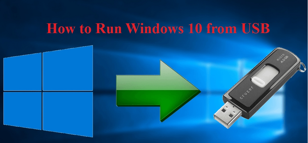 how to run windows from usb
