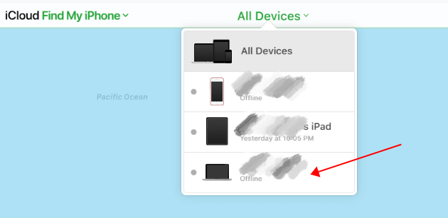 choose Mac in all devices