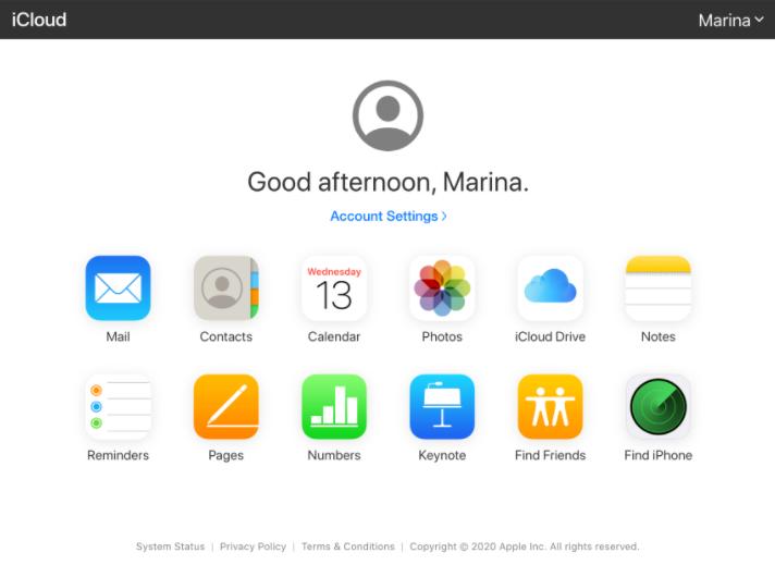 use iCloud to turn off find my mac