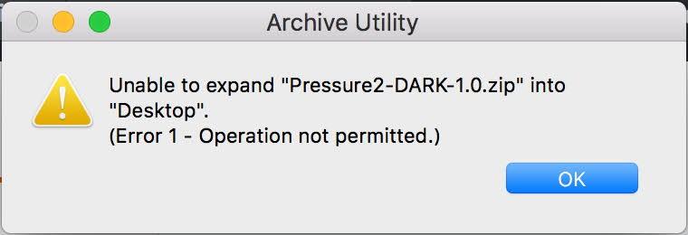 Mac Archive Utility error 1