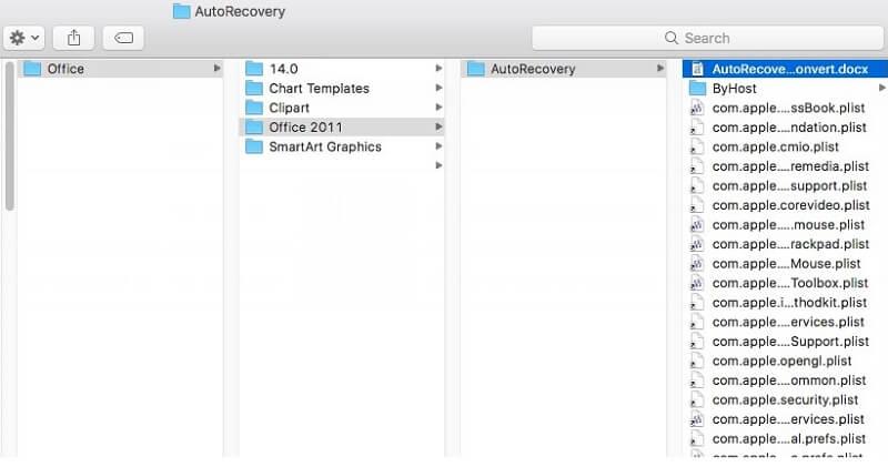 mac autorecovery word document