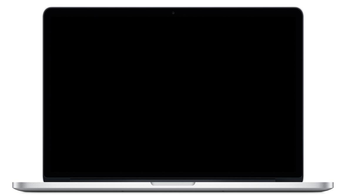 macbook pro screen black