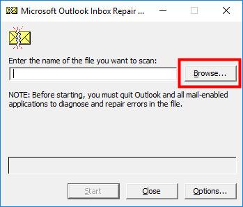 Microsoft Outlook inbox repair tool 1