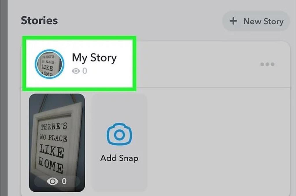 my story on snapchat