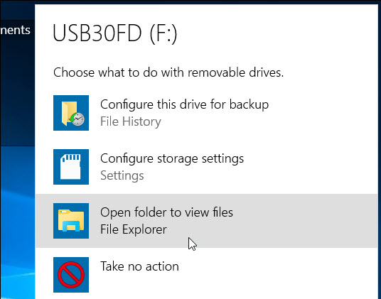 open folder to view files