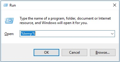open temp folder