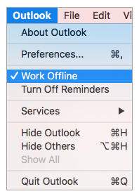 outlook_unselect_work_offline_option