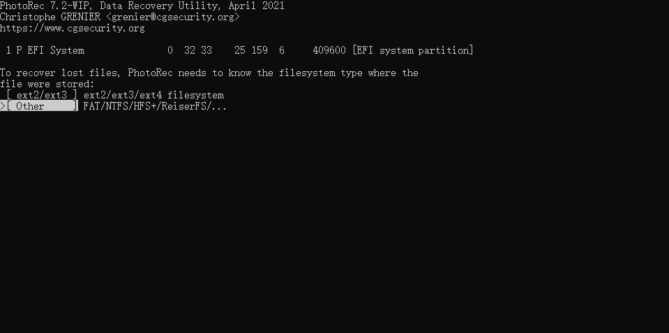 photorec_choose_filesystem_type