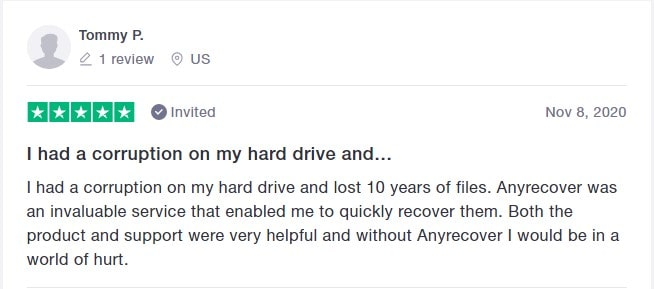 positive review of hard disk recovery