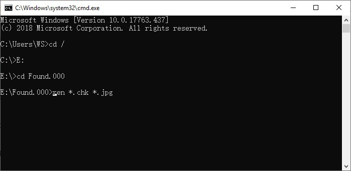 recover chk files using cmd