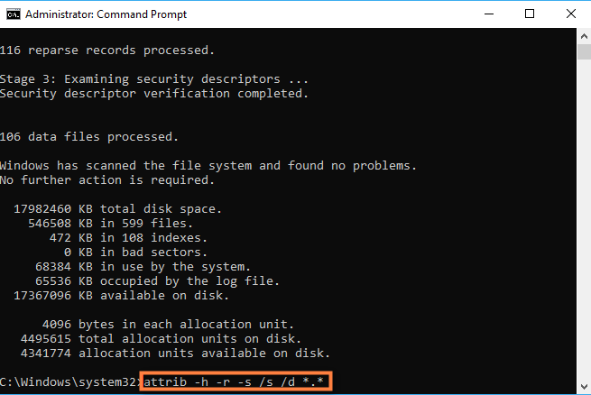 recover deleted files using attrib command